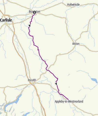 Map / Quietest Brampton to Appleby