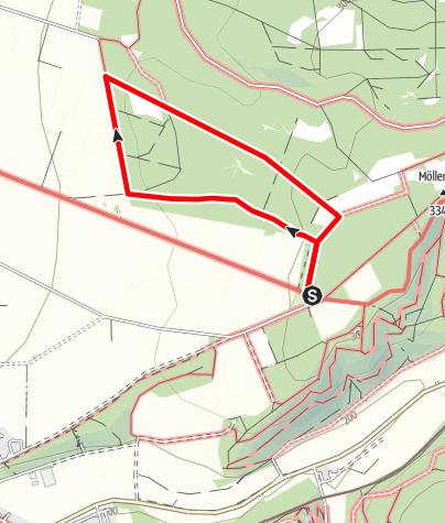 Karte / Hindahls Kreuz - Lippspringer Wald A3