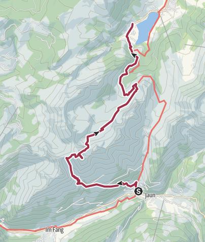 Karte / Jaun - Schopfenspitz - Schwarzsee