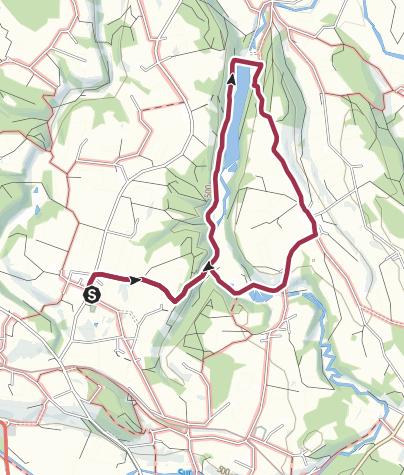 Karte / Lußer Stausee-Weg