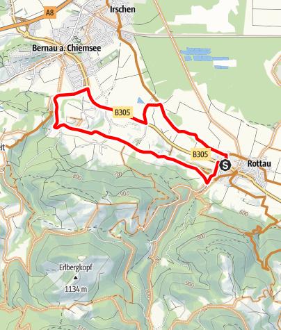Karte / MTB Übungstour Rottau - genial vital Tour 3