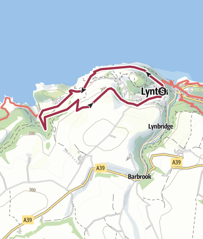 Map / lynton to valley of rocks and back