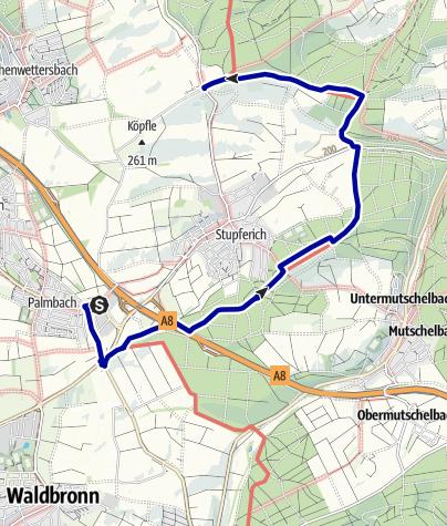 Karte / Bergdörfer Grenzweg Etappe 3