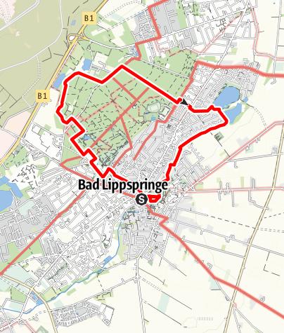 Karte / Planetenweg Bad Lippspringe