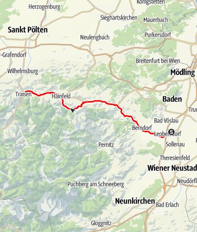 Karte / Triesting-Gölsental-Radweg