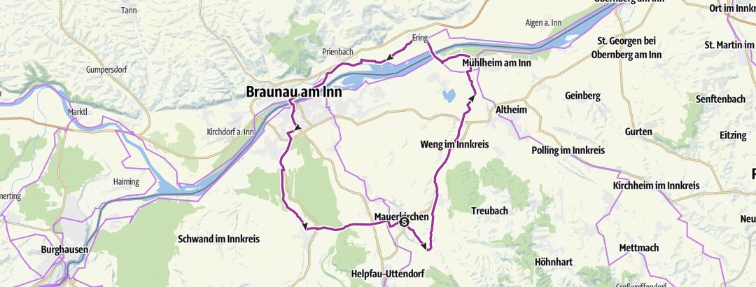 Karte / Im Mattigtal und entlang des Inns.