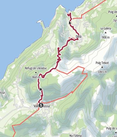 Map / Valldemossa-Deia-Cala Deia