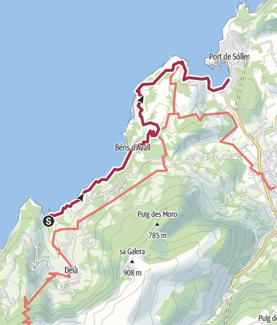 Map / Cala Deia-Refugi Muleta-Port de Soller
