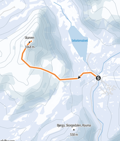 Kartta / Skorgedalsskarven