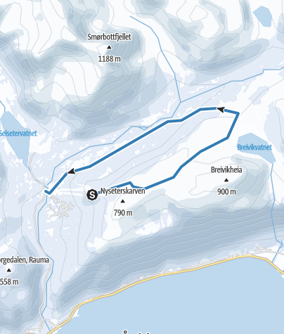 Map / Romsdalen Strandafjellet