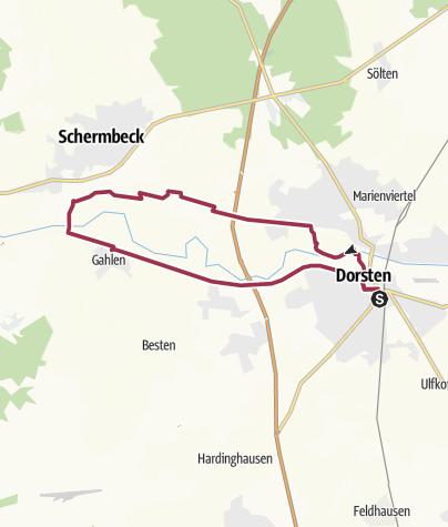 Karte / Entlang der Lippe von Dorsten nach Schermbeck