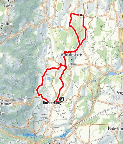 Karte / Moosrunde - Radtour zwischen Ofterschwang und Bolsterlang