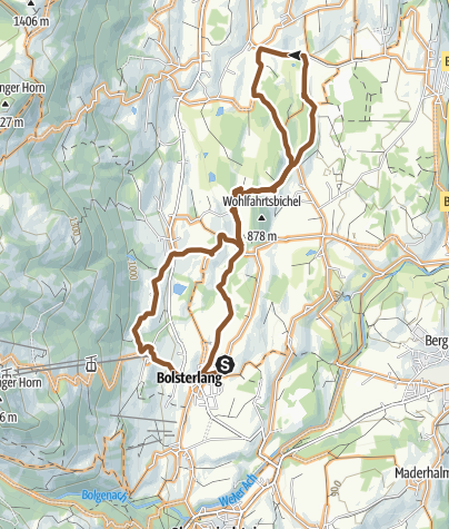 Map / Moosrunde - bike tour between Ofterschwang and Bolsterlang