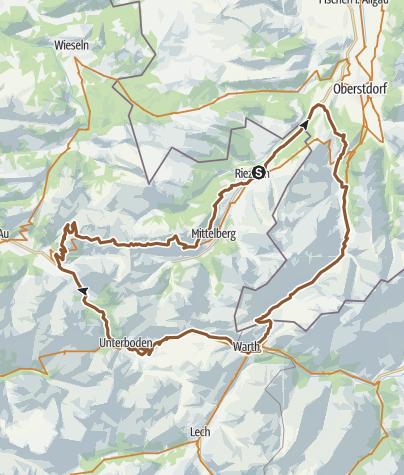 Mapa / Kleinwalsertal Tour 12: Enzian-Runde