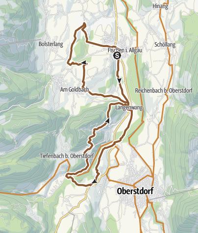 Map / Radtour ab Fischen zum Jägersberg