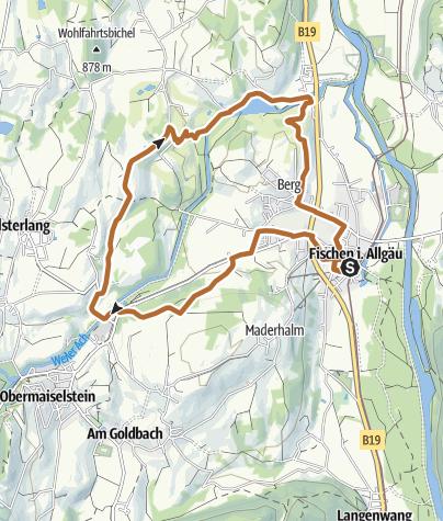Map / Hörnerdörfer-Ausdauer Nordic Walking Runde ab Fischen
