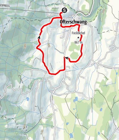 Karte / Hochwiesweg Runde - Nordic Walking in Ofterschwang