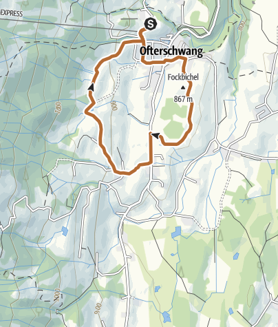 Map / Hochwiesweg Trail - Nordic Walking in Ofterschwang