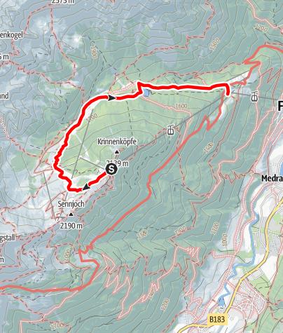 Karte / Erlebnisweg Schlickeralm und Schaukäserei