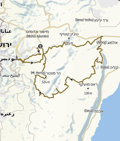 Mapa / דרך הסוכר חניה באלמוג מעגלי