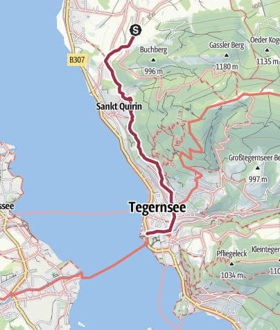 Karte / Genusstraumtour Tegernseer Höhenweg