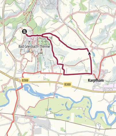 Karte / Rundweg nach Karpfham