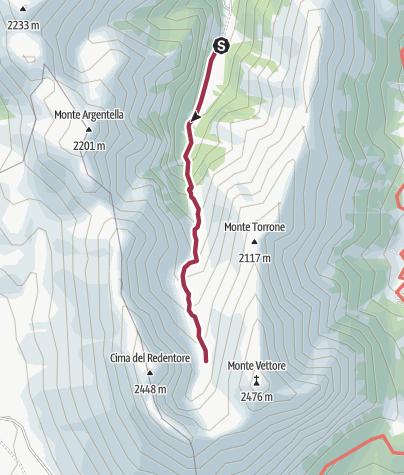 Map / Foce di Montemonaco - Lago di Pilato