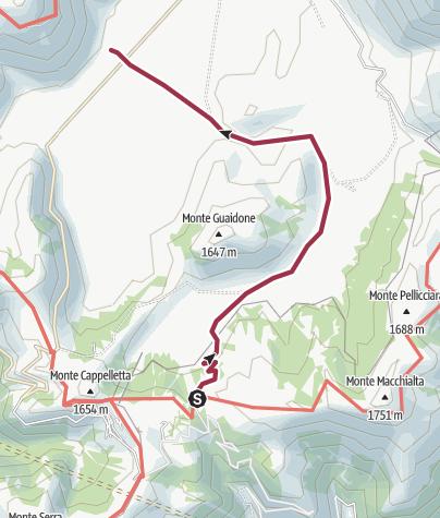 Map / Colle le Cese - Castelluccio piano grande