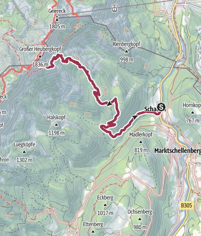 Karte / Marktschellenberg > Eishöhle u. zurück