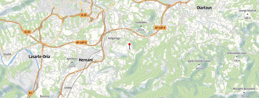 מפה / Santiagomendi (298 m)