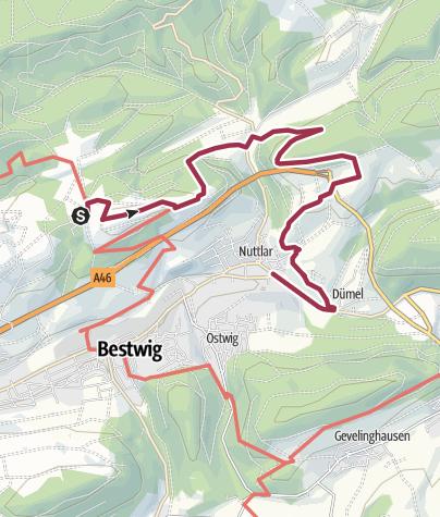 Karte / Bestwiger Panoramaweg- 8. Etappe