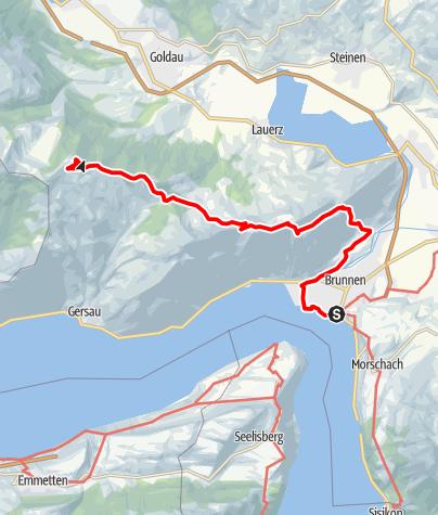 Karte / Tal- und Gipfeltour - Abschnitt Rigi-Scheidegg