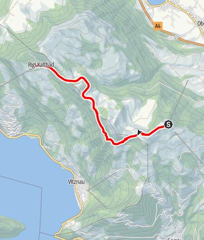 Karte / Tal- und Gipfeltour - Abschnitt Rigi Kaltbad