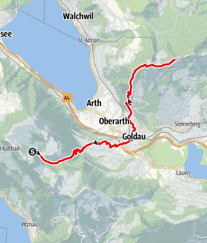 Karte / Tal- und Gipfeltour - Abschnitt Wildspitz