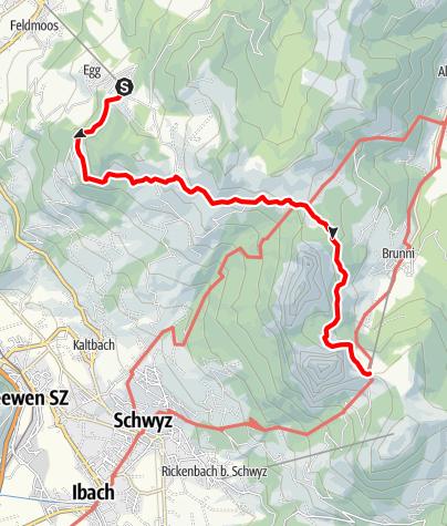 Karte / Tal- und Gipfeltour - Abschnitt Mythen