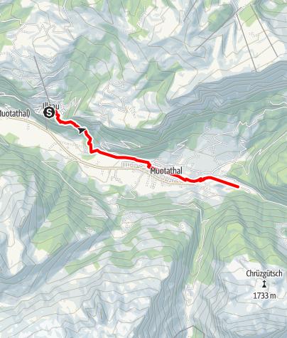 Karte / Tal- und Gipfeltour - Abschnitt Muotathal
