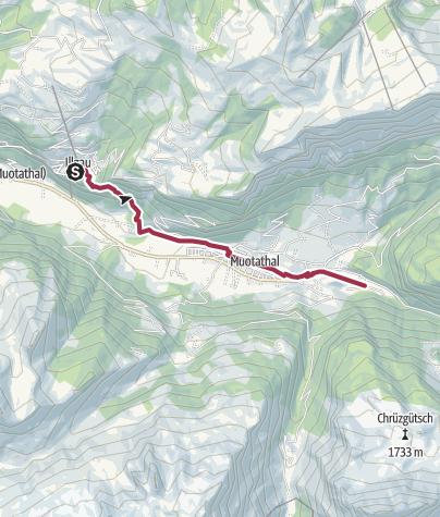 Karte / Etappe: Illgau - Muotathal | Schwyzer Tal- & Gipfeltour