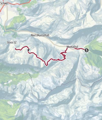 Karte / Etappe: Muotathal - Wannentritt - Stoos | Schwyzer Tal- & Gipfeltour
