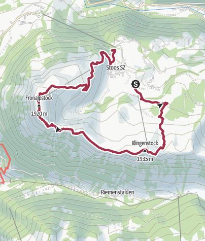 Karte / Tal- und Gipfeltour - Abschnitt Stoos