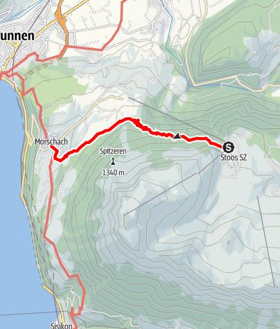 Karte / Tal- und Gipfeltour - Abschnitt Morschach