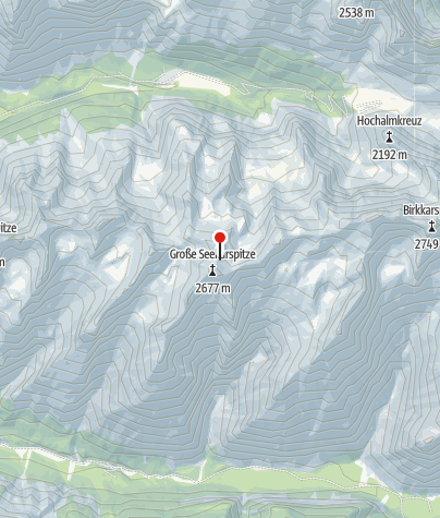 Map / Große Seekarspitze, Neunerkar ( 2670 )