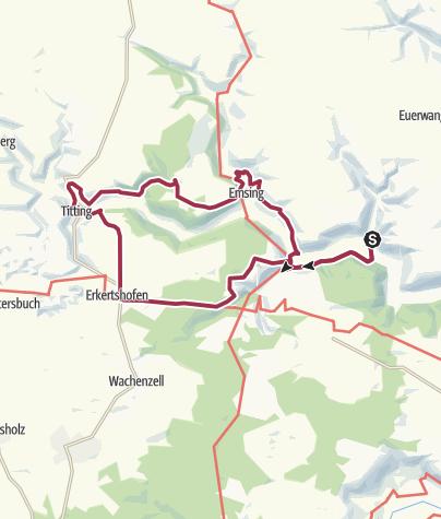 Karte / Mit Römern und Rittern von Erlingshofen nach Titting
