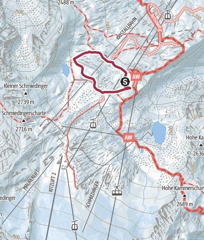 Karte / Panoramaweg Gletscherblick