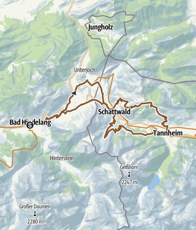 Karte / Von Bad Hindelang ins Tannheimer Tal
