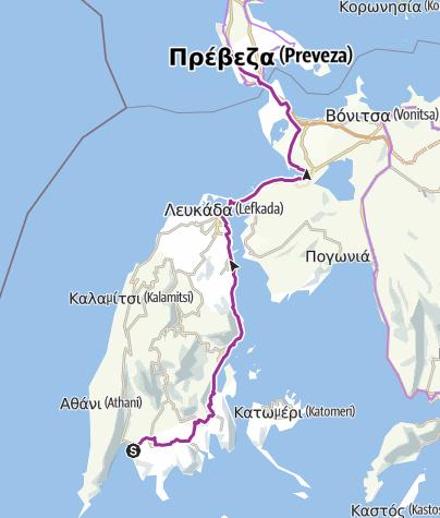Map / Vasiliki to Kalamitsi Campground