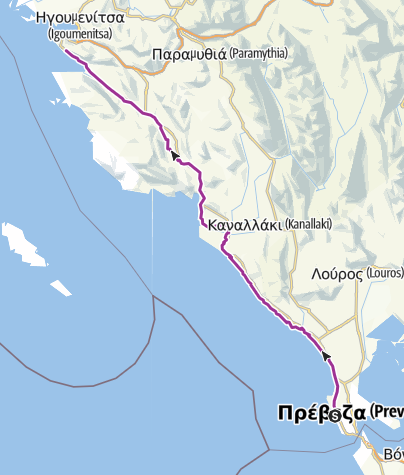 Map / Camping Kalamitsi to Camping Kalami