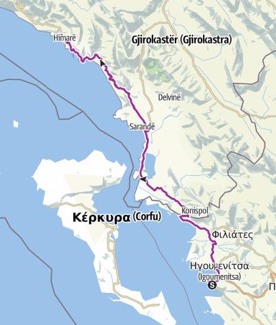 Carte / Camping Kalami to Ksamil/Himare