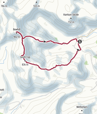 Map / Crinkle Crags