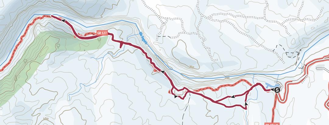 Térkép / Ruta por el Cañón de Almadenes en Cieza