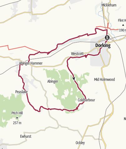 Map / UK - Dorking - Surrey Hills - 2015